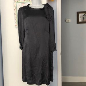New Marc Jacobs gray satin dress knee length